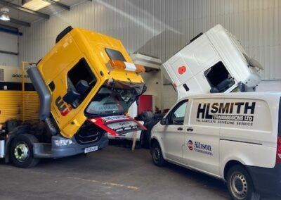 Another DAF Gearbox being fitted on site at HL Smith's