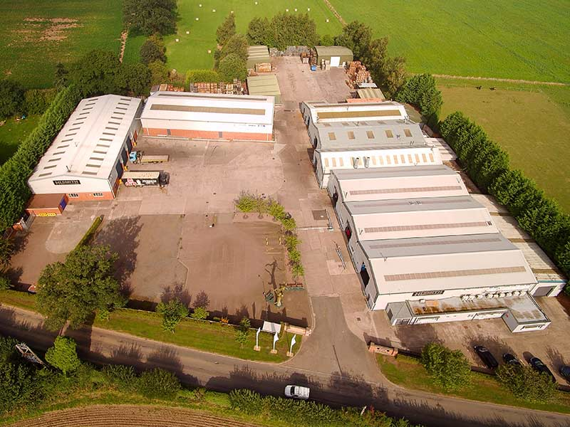 Panorama drone image of the HL Smith transmissions site